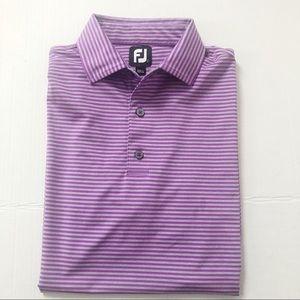 FootJoy Striped George Fazio Golf Shirt Sz L